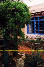 Old Garden with Blue Window